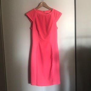 Ted baker neon pink dress